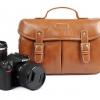 กระเป๋ากล้องหนังPU สีน้ำตาล