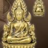พระพุทธชินราช พิมพ์แต่งฉลุลอยองค์ เนื้อทองระฆัง พระพุทธชินราชรุ่นจอมราชันย์ ตอกโค๊ด พุทธชยันตี รหัส 0087