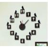 นาฬิกาติดผนัง DIY ขนาด 40 ซม นกเกาะตัวเลข