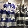 "Cloud Wool Overcoat โคตผ้าวูลล์เนื้อหนา ทอลายตาราง งานแพทเทิร์นหรู ปักแต่งขนปุย &#x2601️&#x2601️ เพิ่มดีเทลน่ารักๆค่า Bust 40"" Length 32"" Price : 1390฿"