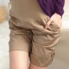 TL39038Kakee กางเกงคลุมท้อง ขาสั้นสีกากี Size L