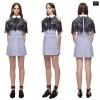Shirting lace cape mini Dress