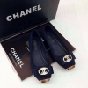 รองเท้า Chanel flat shoes หัวตัด ติดอะไหล่สีทอง วัสดุเป็นผ้าสักหราด สวย ดูดี สุดๆๆ ขนาด : ปกติ