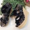 รองเท้าส้นเตารีดดีไซน์โดดเด่นส้นไม้ หนังนิ่ม สวยเก๋มากๆคะ น้ำหนักเบา