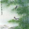 ภาพพิมพ์ ลายภาพวาดพู่กันจีน ไผ่ขวา 50*100cm cnn21