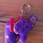 พวงกุญแจช้างน้อย ขนาด 6 x 7 ซม. 6