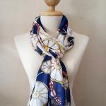 ผ้าพันคอ ชีฟอง สกรีนลาย Chiffon CF01-025-2