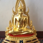 พระพุทธชินราชหน้าตัก12นิ้ว พระพุทธชินราชเนื้อทองเหลืองปิดทองแท้ ขนาดหน้าตัก12นิ้ว ฐาน2ชั้น จากวัดใหญ่พิษณุโลก รหัส388
