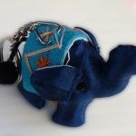 พวงกุญแจช้างน้อย ขนาด 6 x 7 ซม. สีน้ำเงิน