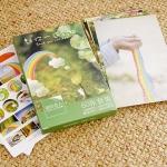 โปสการ์ด 30ใบ พร้อมสติ๊กเกอร์ 30ชิ้น ชุด Rainbow