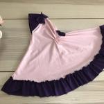 ผ้าคลุมเด็ก เนื้อผ้ายืด ระบายชาย แต่งโบว์ สม๊อคหลัง HB02-0019