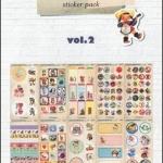 (10แผ่น/ชุด) สติ๊กเกอร์แนววินเทจจากเกาหลี Vintage Lively Child Sticker Pack Vol.2