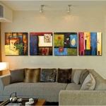 Art-xo กรอบภาพแนว abstract 1 ชุดได้ 4 ภาพ
