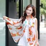 ผ้าพันคอ ชีฟอง สกรีนลาย Chiffon CF01-016