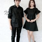ชุดดำ เสื้อเชิ๊ตแขนยาวสีดำกับเดรสผู้หญิงสีดำ