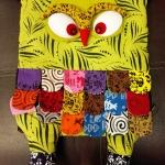 กระเป๋านกฮูก สะพายเป้ ใบใหญ่ขนาด Owl Bag 28 x 40 cm. 4