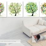 ภาพต้นไม้colorful Art-v0
