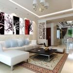 Art-Da ภาพงานศิลป์ ต้นไม้สลับสี ได้ 3ภาพ
