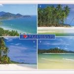 โปสการ์ด I love Koh Chang อุทยานแห่งชาติหมู่เกาะช้าง จังหวัดตราด /ทะเล/ชายหาด/อุทยานแห่งชาติ/I<3/multiview