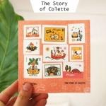 (4 แผ่น/ชุด) แสตมป์สติ๊กเกอร์ Francoise - The Story of Colette Stamp Sticker Set (ใช้ตกแต่ง ไม่สามารถใช้แทนค่าฝากส่ง)