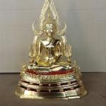 พระพุทธชินราช ลงรักปิดทอง รุ่นบูรณะพิพิธภัณฑ์ ขนาดหน้าตัก 5.9 นิ้ว รหัส0144