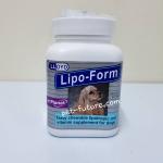 Lipo-Form Exp.05/18 อาหารเสริมแร่ธาตุ และวิตามินช่วยเสริมการทำงานของตับ ชนิดเม็ด สำหรับสุนัขและแมวสูงอายุ