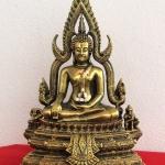 พระพุทธชินราช5นิ้ว พระบูชามวลสารผสมเหล็กนำ้พี้ ขนาดหน้าตัก 5 นิ้ว สีทองเก่า รหัส.138
