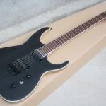 Black machine guitar