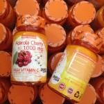 Acerola Cherry 1,000mg high vitamin C มี 30 เม็ด หนัก80