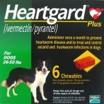 Heartgard Plus 6 เม็ด สำหรับ นน.สุนัข 11-22 กิโลกรัม Exp.08/19