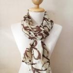ผ้าพันคอ ชีฟอง สกรีนลาย Chiffon CF01-035