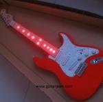 กีต้าร์ไฟฟ้า fender ST fretboard red LED lights
