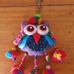 พวงกุญแจตุ๊กตานกฮูกพวงใหญ่ ขนาด 8 x 25 cm. 18