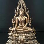 พระพุทธชินราช สีทองโบราณ รหัส9822