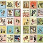 (4 แผ่น/ชุด) แสตมป์สติ๊กเกอร์ Wizard of OZ Stamp Sticker Set (ใช้ตกแต่ง ไม่สามารถใช้แทนค่าฝากส่ง)