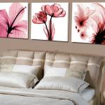 Art-XF ภาพแต่งห้องสวยๆ ดอกไม้ X-ray Flower 1ชุดได้ 3ภาพ