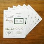 """(6 แผ่น/ชุด) สติ๊กเกอร์ """"For You - Thank You"""" Sweet Label Sticker / Gift Sticker"""