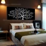 Arthome65 ภาพต้นไม้สีเงิน 1ชุดได้ 3ภาพ