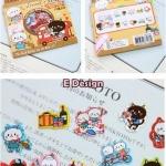 (70 ชิ้น/ชุด) สติ๊กเกอร์ Cute Animal Stickers in a Pocket (E Design)