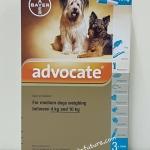 Advocate สำหรับสุนัข นน. 4.0-10 kg. Exp.10/18