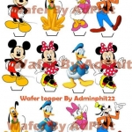 Wafer topper Mickeymouse 1