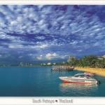 โปสการ์ด พัทยาใต้ จังหวัดชลบุรี /ทะเล/ชายหาด/เรือ