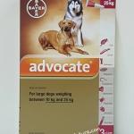 Advocate สำหรับสุนัข 10 kg - 25 kg. Exp.06/19
