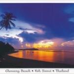 โปสการ์ด หาดเฉวง เกาะสมุย จังหวัดสุราษฎร์ธานี /ทะเล/ชายหาด/พระอาทิตย์ตก