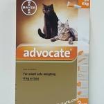 Advocate สำหรับแมว นน.0-4 kg. Exp.01/20