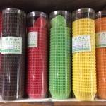 กระทงจีบ กระดาษ ไต้หวัน ทุกสี 120฿ น้ำตาล 140 บาท ก้นกว้าง 3.8 สุง 2.1 ใช้พิม2616 ได้คะ มี600ชิ้น