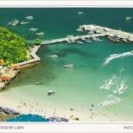 โปสการ์ด หาดตาแหวน เกาะล้าน เมืองพัทยา จังหวัดชลบุรี /ทะเล/ชายหาด/มุมมองจากที่สูง