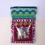 กระเป๋าผ้าฝ้ายสะพายเล็กบางลายช้าง 6
