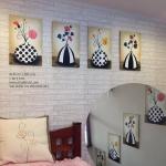 Art-Ea ภาพดอกไม้มงคลปักแจกัน 1 ชุดได้ 4 ภาพ