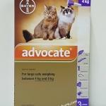 Advocate สำหรับแมว นน. 4 kg. - 8 kg. Exp.05/19